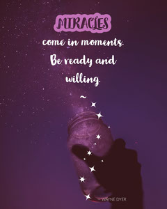 Purple and Blue Night Sky Inspirational Qutoe Instagram Portrait Graphic  Space