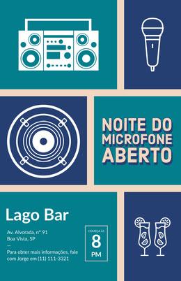 open mic night poster Panfletos