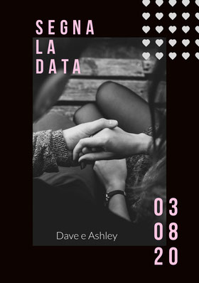black and white photo save the date card Partecipazione