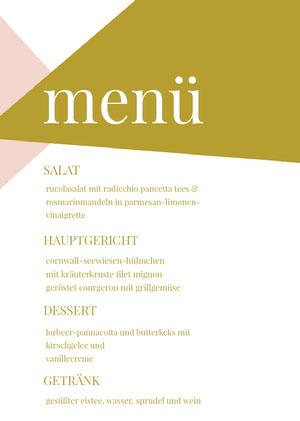 shapes wedding menu  Menü