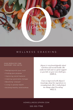 Violet and White Wellness Coaching Social Post Wellness