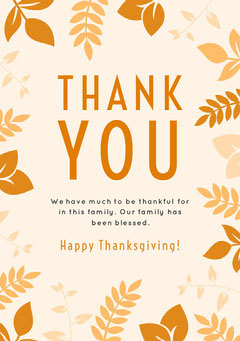 White and Yellow Thanksgiving Turkey Toasts Thank You Card Leaf