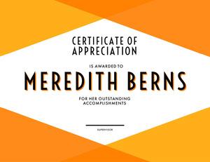 modern certificate of appreciation  Certificado de Agradecimento