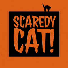 Orange and Black Halloween Instagram Post Scary