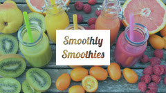 White and Colorful Smoothly Smoothies Banner Juice