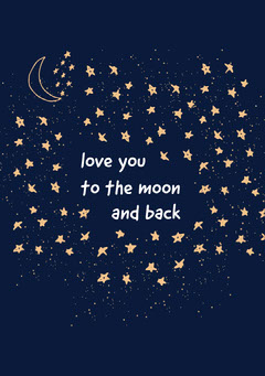 to the moon and back valentines card Moon