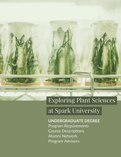 Green Plant Science University Brochure Cover Page Plants