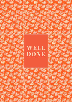 Orange Floral Pattern Congratulations Card Pattern Design