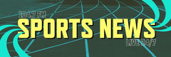 Green And Yellow Sports News Twitter Banner Sports