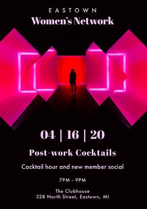 Pink Neon Women's Network Flyer Pink Flyer