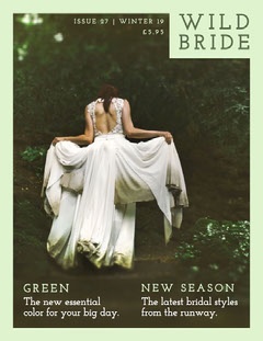 Green With Bride Magazine Cover Fashion Magazines Cover