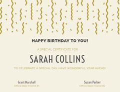 SARAH COLLINS  Confetti