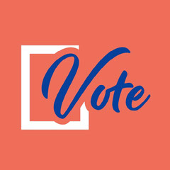 Red White and Blue Vote Instagram Square Election