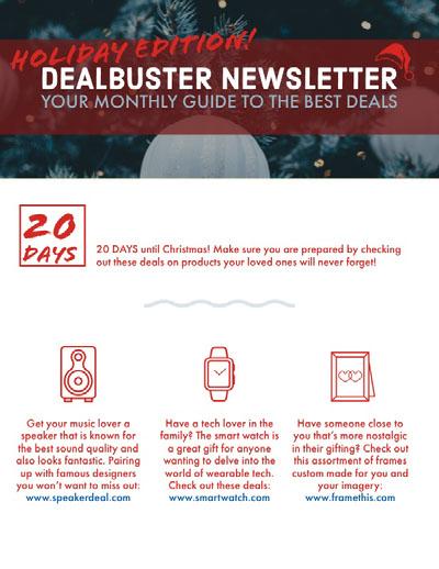 Christmas Shopping Newsletter Graphic Newsletter Examples