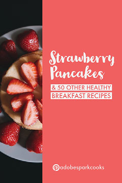 Red and White Strawberry Pancakes Pinterest Post Recipes