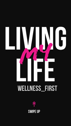 Black and White Living My Life Social Post Wellness