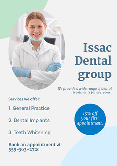 Blue Dental Group Flyer Dentist