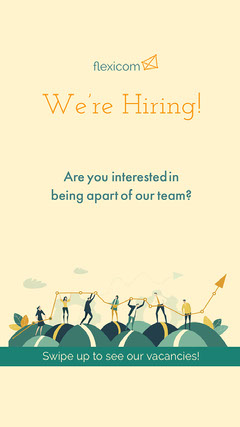 Light Toned, Yellow and Blue, Job Offer Ad, Instagram Story Career Poster
