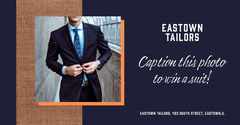 Navy Tailor Suit Caption This Facebook Post  Contest