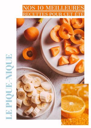 Orange - Our Best Summer Recipes Magazine Cover Couverture de magazine