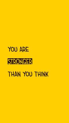 Bright Yellow Minimalist Motivational Instagram Story Anti-Bullying