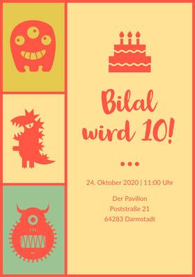 Bilal wird 10! Einladung zum Geburtstag