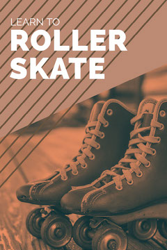 Black and Orange Learn to Roller Skate Pinterest  Pattern Design