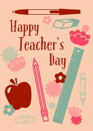Cute Online Teacher's Day Card Online Teacher's Day Card