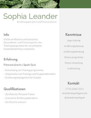 Sophia Leander Lebenslauf