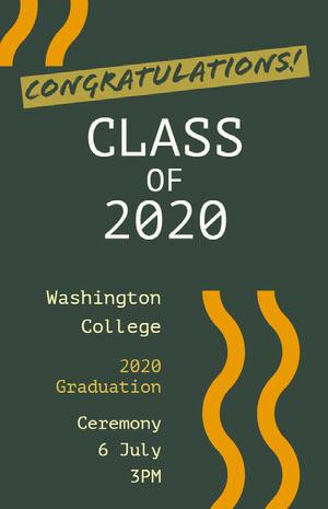 Green and White Congratulation Card Graduation Poster