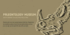 Grey and White Museum Ad Facebook Banner Museum