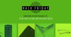 Green and Black Hack Friday Facebook Advertisement Deal