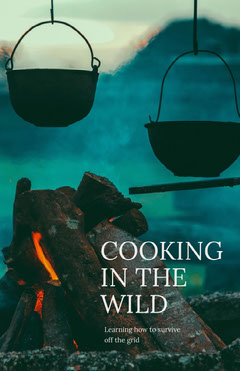 Blue and White Wild Cooking Flyer Cooking