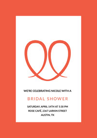 Red Bridal Shower Invitation Card Invito per bridal shower