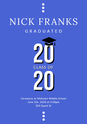 White and Violet Graduation Poster Graduation Poster