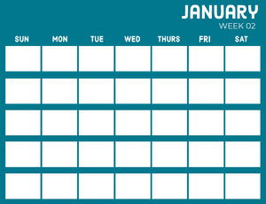 Blue January Calendar  Calendrier
