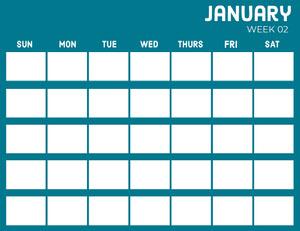 Blue January Calendar  달력