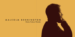 Yellow and Brown Minimalistic Portrait Linkedin Banner Banner LinkedIn