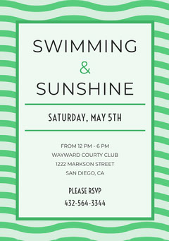 SWIMMING <BR>&<BR>SUNSHINE  Club Party