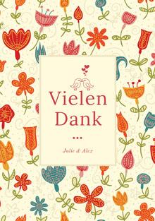 colorful floral patterned wedding thank you cards Hochzeitsdankeskarten