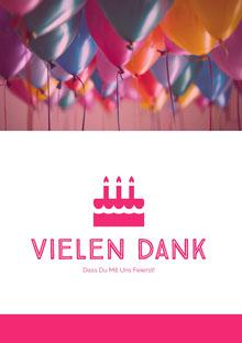 birthday balloons thank you cards Geburtstagskarte