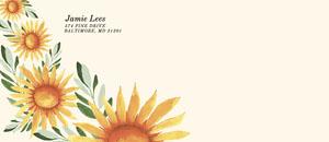 Painterly Sunflower Envelope Envelope
