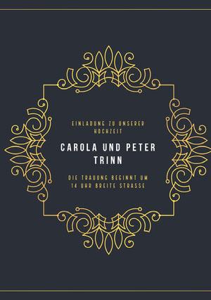 gold embellished  wedding cards Einladungen