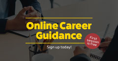 Yellow Online Career Guidance Facebook Ad Career Poster