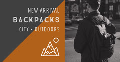 Brown and Black Backpacks Advertisement New Collection