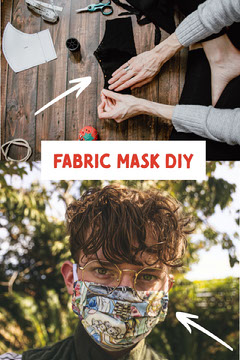 Fabric Face Mask DIY Pinterest Graphic Pinterest