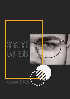 Seasonal Eye tests Flyer Seasonal