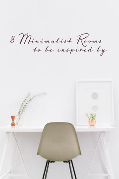 White Minimalistic Interior Design Inspiration Pinterest Graphic with Desk Photo Interior Design