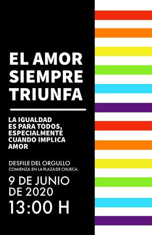 pride parade event poster  Cartel de evento