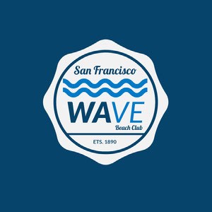 Blue Wave Beach Club Badge Insignia